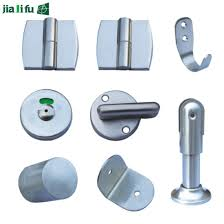 Bathroom Stall Hardware Simple China Aluminum Alloy Compact Laminate Toilet Partition Hardware