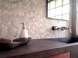 astonishing hexagon tile backsplash of marble