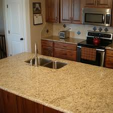 giallo ornamental granite kitchen island