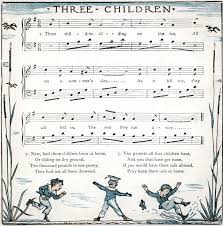 sheet music for kids three children sliding on the ice english childrens songs