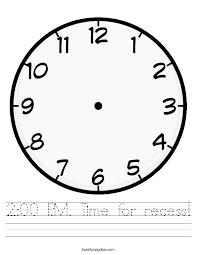 Generous Blank Clock Templates Photos - Example Business Resume ...