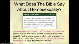 Bible says about gays