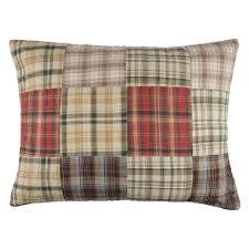 Renfrew Cotton Quilt, Red tartan patchwork quilt with plain cream ... & Share: Adamdwight.com