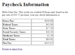 Solved Paycheck Calculator Php In This Assignment You Nee