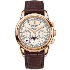 Men's - Watches Grand 18k Jomashop Gold Philippe Dial Patek Silver Rose Complications Watch 5270r-001