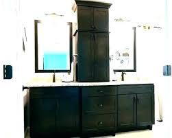 bathroom vanity storage. Double Vanity With Linen Tower Bathroom Cabinet Center Storage