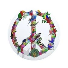 peace symbol ornaments great colorful birds sign ornament round by tree lighted peace sign