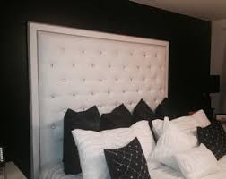 extra tall tufted headboard. Delighful Headboard White Faux Leather Crystal Button Tufted Headboard With Double Nailhead  Border King Extra Tall Inside Tall