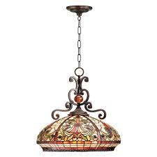 Dale Tiffany Boheme Tiffany 3 Light Antique Golden Stone Hanging Fixture