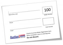 silent auction program template silent auction bidder registration card template free download