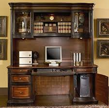 home office computer. Wonderful Home Home Office Computer Desk With Hutch In Two Tone Warm Brown Finish In O