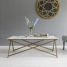 marble coffee table. Stellar White Marble Coffee Table