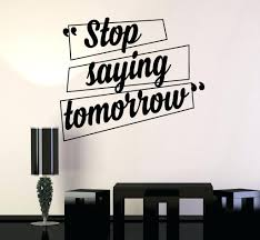 wall decal office hot wall stickers home decor inspirational sentence  wallpaper vinyl wall decal motivation quotes . wall decal ...