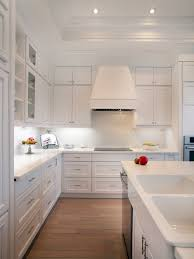white kitchen with white backsplash