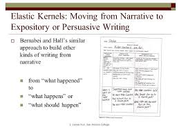 moving from narrative to persuasion essay basics while  elastic kernels moving from narrative to expository or persuasive writing  bernabei and hall s similar
