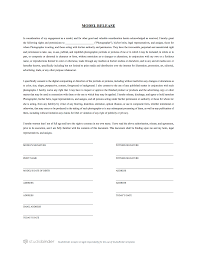 Model Release Forms The Best Free Model Release Form Template for Photography 1