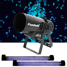Chauvet Funfetti Pack with Dual Black Lights and Glow in the Dark Confetti