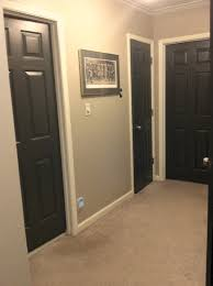 White Door Black Trim Dark Wood Work With White Doors Google Search Homes
