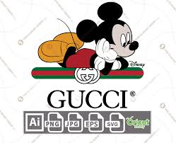 Gucci & Disney Inspired printable graphic art Mickey Mouse Laying Down on  the logo + vector art design hi quality - This is What I Want