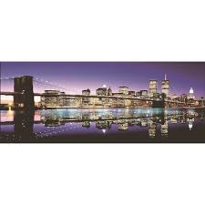 led lighted famous new york city brooklyn bridge skyline canvas wall art 15 75 x 39 25 on new york city skyline canvas wall art with shop led lighted famous new york city brooklyn bridge skyline canvas