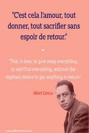 Franch Quotes French Quote Cest Cela Lamour Tout Donner Tout