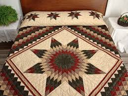 Trip Around the Star Quilt -- exquisite adeptly made Amish Quilts ... & Dark Green Red and Tan Extra Fine Lone Star Trip Quilt Photo 1 ... Adamdwight.com