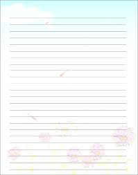 Free Printable Lined Writing Paper Free Printable Lined Writing