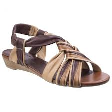 riva riva womens cala brown leather strappy sandals