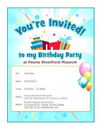 Word Template For Birthday Invitation Free Printable Birthday Invitations Party Invitation Card