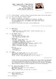 Resume Format Vfx Artist Resume Templates