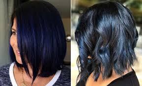 beautiful blue black hair color ideas