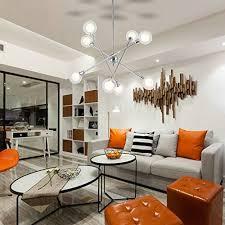 sputnik chandelier lighting vinluz 8 light modern pendant lighting mid century ceiling light for dining room bed room kitchen room chrome finish
