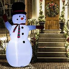 Waving Snowman LED Lighted Outdoor Air Blown Inflatable Christmas Plug-In Decorations You\u0027ll Love | Wayfair