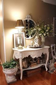 Elegant French Country console table and accessories