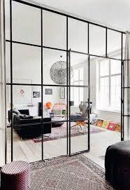 house interior glass room divider