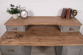 vintage office table. Upcycled Vintage Pine Office Desk. Homemade Chalk Paint Table T