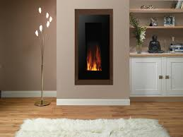 Gazco Studio Electric 22 E-motiv wall mounted electric fire with Black  Glass and Walnut