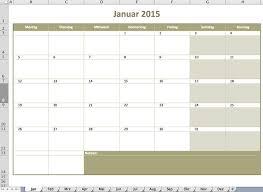 jahrskalender 2015 kalender excel vorlagen für jeden zweck