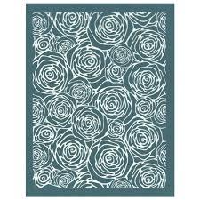 Rose Pattern Mesmerizing DIY Screen Printing Rose Flower Design Ceramic Silk Screen Stencil