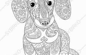 Free Printable Dachshund Coloring Pages At Adult Coloring Pages Puppies