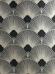 art deco wallpaper metallic pattern geometric fan grey uk
