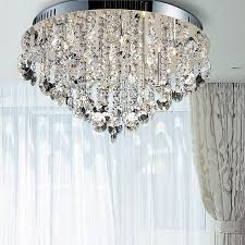contemporary ceiling lights crystal ceiling lamp semi flush inside crystal flush mount chandelier for bedroom