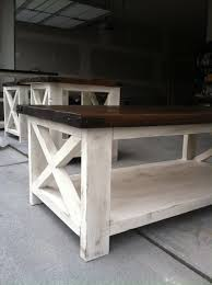 ... Coffee Table, Astonishing Dark Brown And White Rectangle Wood Coffee  Table Rustic With Storage Idea
