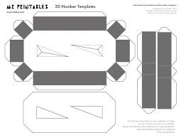 Mr Printables 3d Number Templates