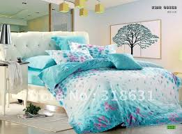 bedroom turquoise white bed set
