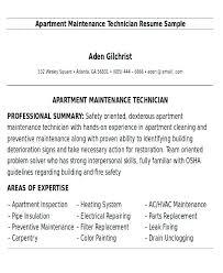 Building Maintenance Resume Sample Custodian Resume Sample Apartment