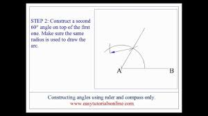 Constructing Angles Without Using A Protractor Youtube