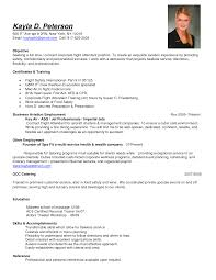 Flight Attendant Resume Templates Kayla D. Peterson ...