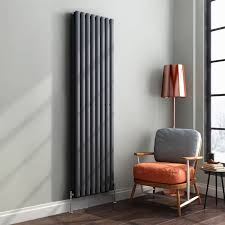 1800 x 480 mm Vertical Column Radiator Anthracite Oval Double | Original -  iBathUK premium radiator: iBathUK: Amazon.co.uk: DIY & Tools