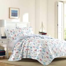 nautical quilt cover sets multi color sailboat 3 king cotton set s nautical bedding sets